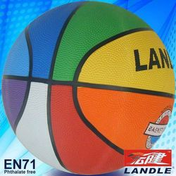 Rubber made new style colorful US basketball made in china