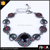 Delicacy Vintage Bracelet,Colorful Crystal Alloy Bracelet,Fashion Brand Design Boho Bracelet