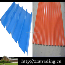low cost color coated red corrugated roofing sheet