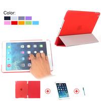 2015 Ultra Thin Smart Leather Case for iPad Mini 4,For iPad Mini Smart Cover Case With Screen Protector