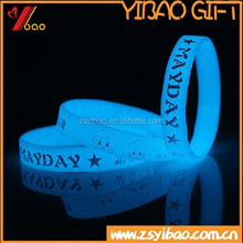 Promotional Smart Health Silicone Wristband,Custom Glow in Silicone for Events