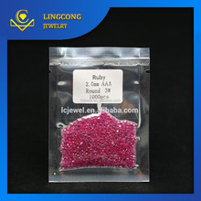 popular factory price loose stone red Star Ruby,fancy cut ruby