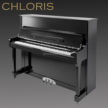 Black Vertical Mini Wooden Piano HU-121E