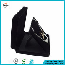 New design Top quality velvet necklace present packaging box for wholesale