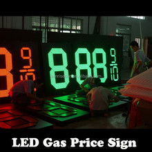 alibaba electronic products 8.889 4 Digits Outdoor Led Gas Station Price Signs For Petrol Station with double sided pole sign