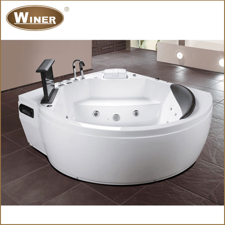 Indoor freestanding 1 person hot tub small acrylic bath tub bathing massage whirlpool used - Small whirlpool tub ...