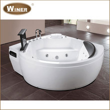 Indoor freestanding acrylic massage whirlpool jet whirlpool bathtub with tv