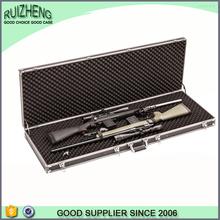 OEM silvery handle wholesale aluminum gun case