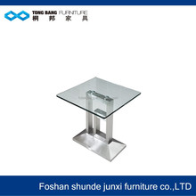 long glass tea table design in China