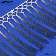 100% cotton long curtain tassel fringe for dresses