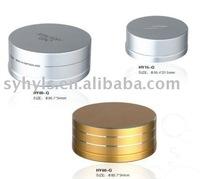Color Round Small Aluminium & Plastic Compact Powder Puff Container