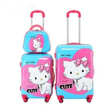 Cathylin 2015 chaps luggage bag pictures hot selilng cute trolley ABS PC luggage beautyful suitcase school bag trolley for kids