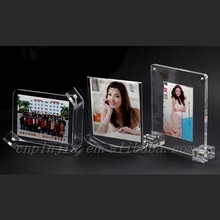 2015 high quality Custom Special Design Clear Acrylic Photo Frame Manufacturers custom-made display farmer