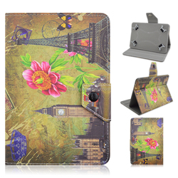 Colored Drawing Flower PU Leather stand Case Smart Cover For Apple iPad 2/iPad 3/ iPad 4/iPad Air