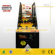 new arrival coin operated luxury street basketball game