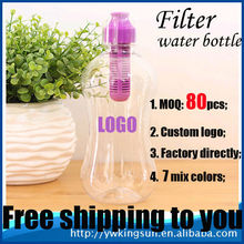 Outdoor camping plastic hydration filter water bottle bpa free factory directly