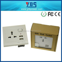 2014 the best selling products made in china usb wall socket malaysia uk/eu/us wall outlet