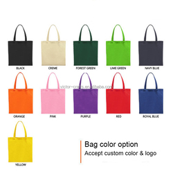 College student's bag custom logo large space plain canvas tote bag