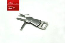 multi function stainless knife blade no handle with bottle opener