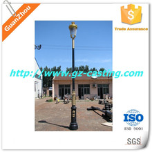 Alibaba china foundry manufacturing OEM custom made aluminum and cast iron garden park use antique lamp post