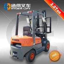3 stage mast diesel fork lift in shanghai 2t diesel forklift