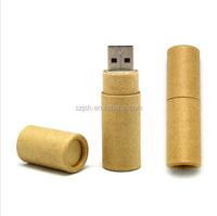 High Quality Wood Tube Shape USB 2.0 Pen Drive For PC