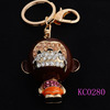 Hot Sale Fancy Sipping mouth monkey Richly Colorful Metal keychains