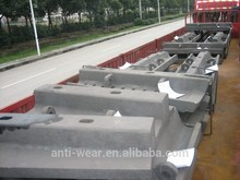 HRC33~43 Pearlitic Cr-Mo Big Steel Casting Parts For Mine Mills