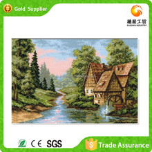 2015 new style sets diamond art natural scenery painting of village