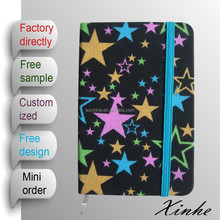 factory directly colorful fabric handmade journal notebook with custom design printed for gift and for promotion