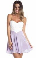 bandage strapless white dress/evening party club dresses/apparel wholesale model-cp256