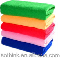 Magic high water absorption dirt removing soft microfiber glass cleaning cloth