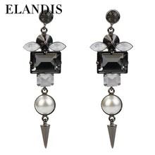 Stud Zircon Double Sided Pearl Earring Double Sided Pearl Earring