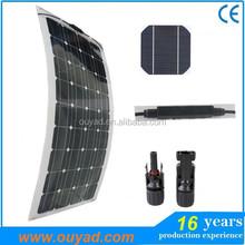 Flexible solar panel 100w Best solar cell price, high efficiency solar pv panel