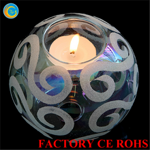 Frosted crystal globe glass candle holder centerpieces