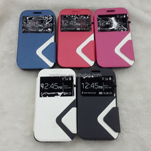 High quality leather PU cell phone case for samsung galaxy s6 case