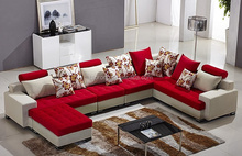 Modern home furniture L shape fabric sofa set designs TRSO-851