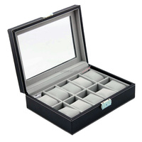 New 10 leather wooden watch display box ,watch case