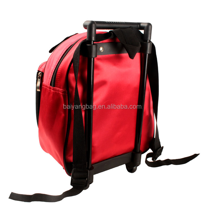 Backpack type kids wheel school bag