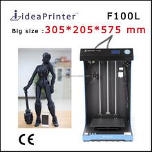 ideaPrinter High resolution 0.02 mm Big size 305*205*575 fdm desktop 3d printer