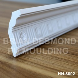 Best quality black gold PU moulded cornice for home decor