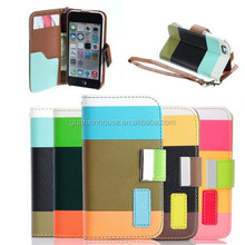 Magnetic Flip PU Leather Pouch Wallet Case Cover Lot Stand For iPhone 5 5s