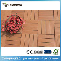 Eco-friendly and waterproof wpc outdoor deck tiles for sale
