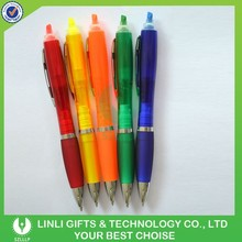 Promotion Gift Plastic 2 in 1 Pen With Highlighter