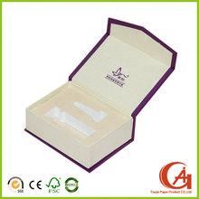Caja embalaje de cartón de impresión personalizada para 1 par de botellas de vidrio