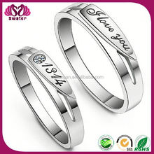 Fashion Double Ring White Gold Wedding Rings Sets