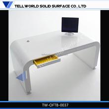 White High Glossy U Shaped Modern Design Germany Office Furniture