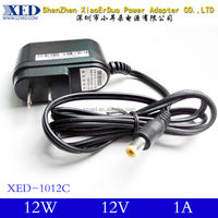 Best selling AC to DCwall mount plug in power supply adapter output DC12V 1A To 2A 12W electrical source