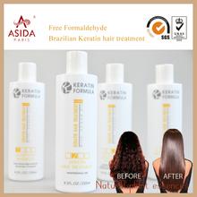 New Product Professional Hair straightener treatment Free Formaldehyde Brazilian Keratin for kit