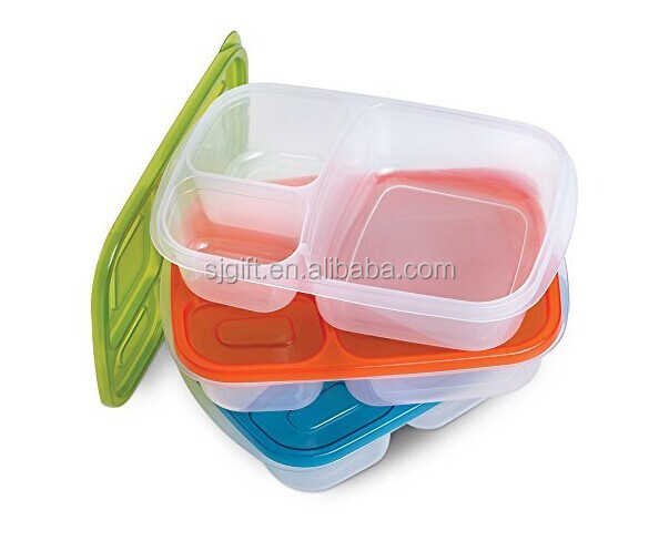 3 compartment bento containers easily opened by kids reusable lunch box buy. Black Bedroom Furniture Sets. Home Design Ideas